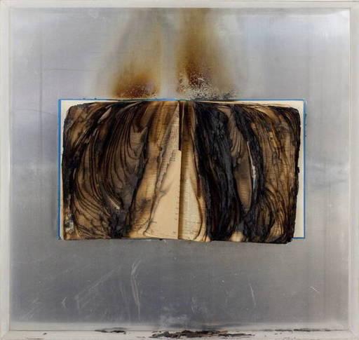 Bernard AUBERTIN - Sculpture-Volume - Livre Brulée