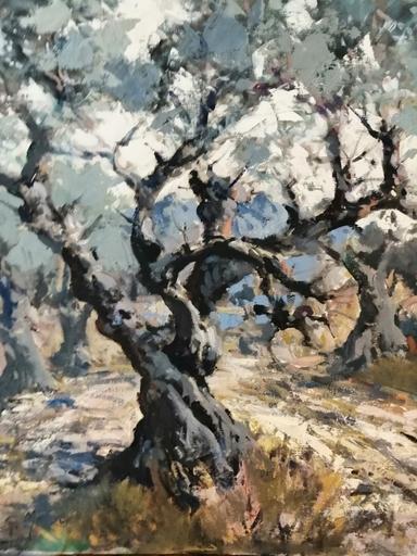 Edmond Amédée MELOT - Pintura - Le vieil Olivier