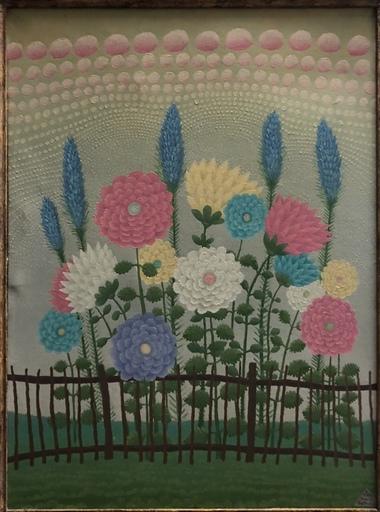 Ivan RABUZIN - Peinture - Blumen am Gatter