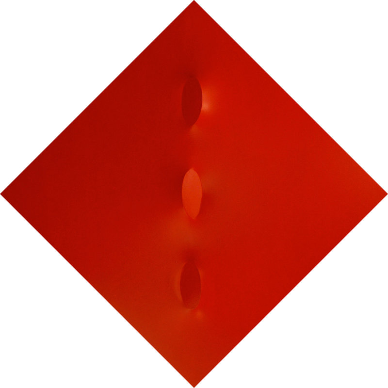 Turi SIMETI - Painting - Tre ovali in rosso