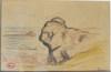 Maximilien LUCE - Dibujo Acuarela - Marines à Kermouster- Lézardrieux, Bretagne
