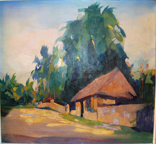 Hans PAAP - Painting - Paysage tropical