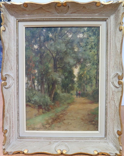 Albert REGAGNON - Pintura - Les chemins à Sentaraille, Ariège