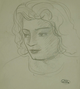 André DERAIN - Drawing-Watercolor - Portrait of Woman