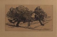 马克西米·卢斯 - 水彩作品 - Trois arbres