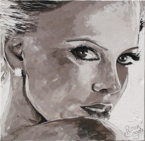 "Peter ENGELS - Painting - Sharlize Theron  -  ""Well Hello"""