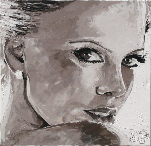 "Peter ENGELS - Pintura - Sharlize Theron  -  ""Well Hello"""
