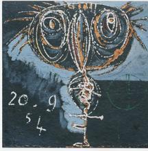 Enrico BAJ - Peinture - Animale dal grande becco
