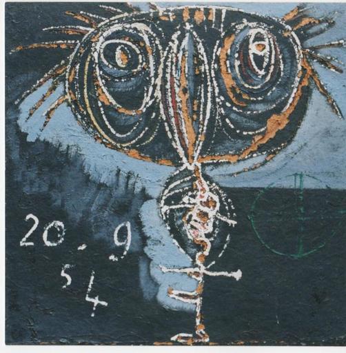Enrico BAJ - Pintura - Animale dal grande becco