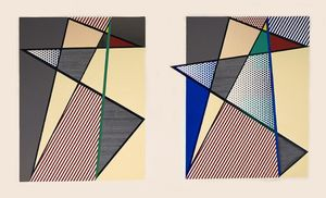 Roy LICHTENSTEIN, Imperfect Diptych