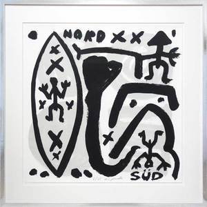 A.R. PENCK - Estampe-Multiple - Nord-Süd