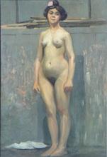 Henri PAILLER - Painting - Nu debout