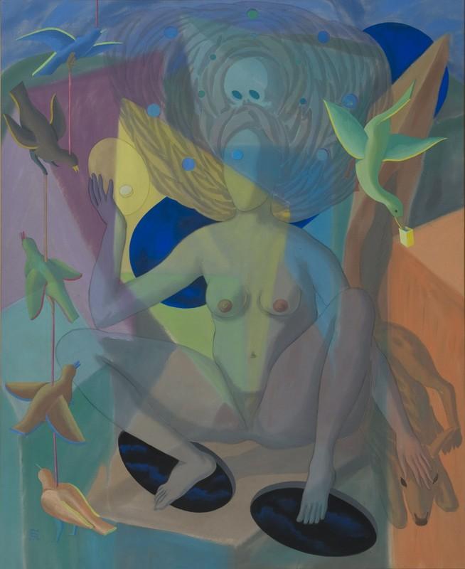 Edgar TEZAK-NEOGY - Peinture - Vision of the Veil