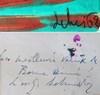 """Gérard SCHNEIDER - Painting - """"Voeux 1962"""""""