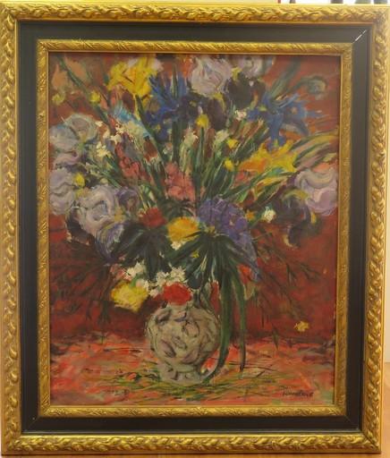 Daniel SCHINTONE - Painting - Bouquet de fleurs