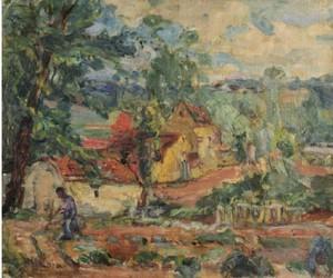 Michel KIKOINE - Gemälde - Dans le jardin