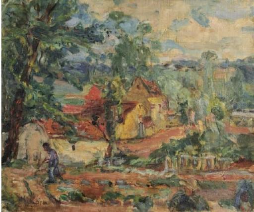 Michel KIKOINE - Painting - Dans le jardin