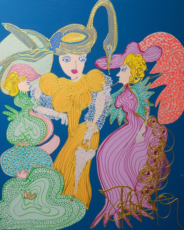 Isa SATOR - Painting - Frou-Frou    (Cat N° 6739)