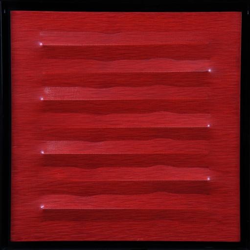 Agostino BONALUMI - Painting - Rosso