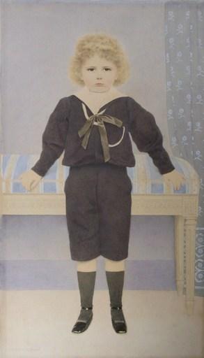 Louis-Maurice BOUTET DE MONVEL - Drawing-Watercolor - Portrait présumé de son fils Roger, en costume marin et soul