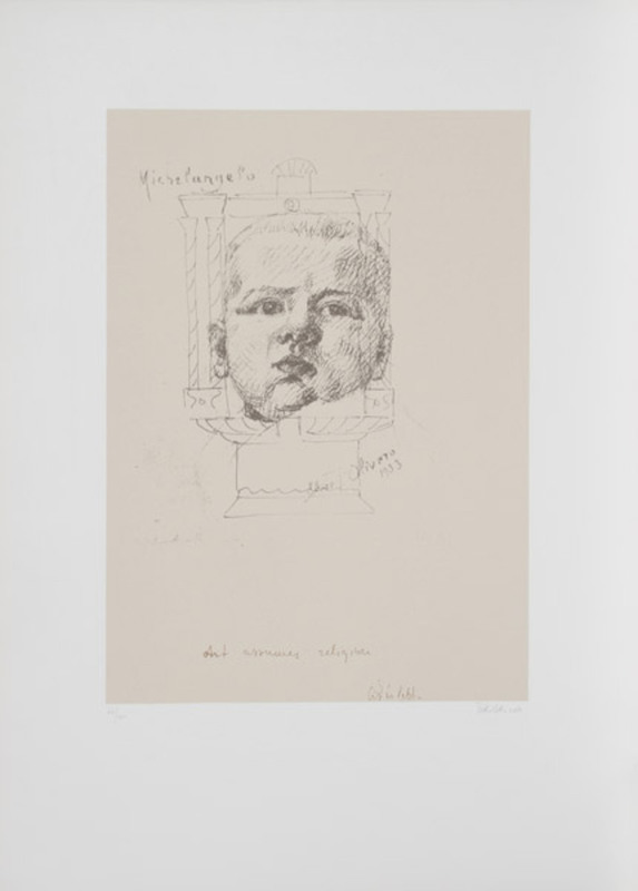 Michelangelo PISTOLETTO - Estampe-Multiple - II from the I am Third Series