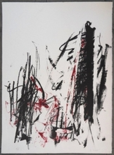琼安•米契儿 - 版画 - Trees (red)