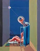 Franz ROGLER - Pintura - Sonnenbad