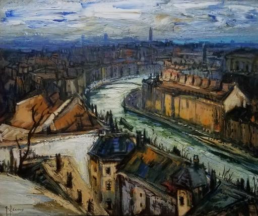 Gilbert PECOUD - Gemälde - Rouville sur la ville