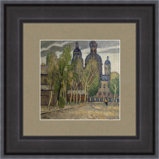 Valeriy NESTEROV - Gemälde - Samokatnaya street. Moscow
