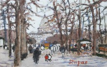 Marko STUPAR - Drawing-Watercolor - jardin du luxembourg