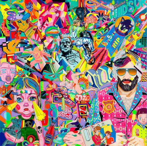 "Guive KHOSRAVI - Painting - ""The incrédible Windsor"""