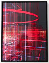 Miguel CHEVALIER - Escultura - Meta-cités Filaire rouge