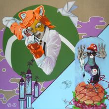 Myriam BAUDIN - Peinture - Du lard urbain