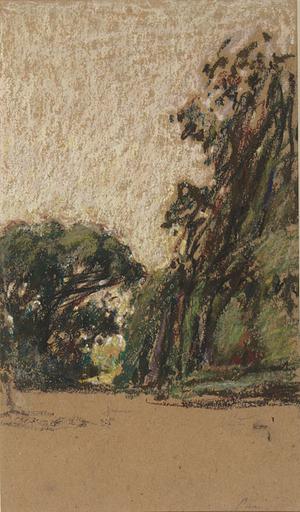 Ker Xavier ROUSSEL - Dibujo Acuarela - Allée dans un jardin