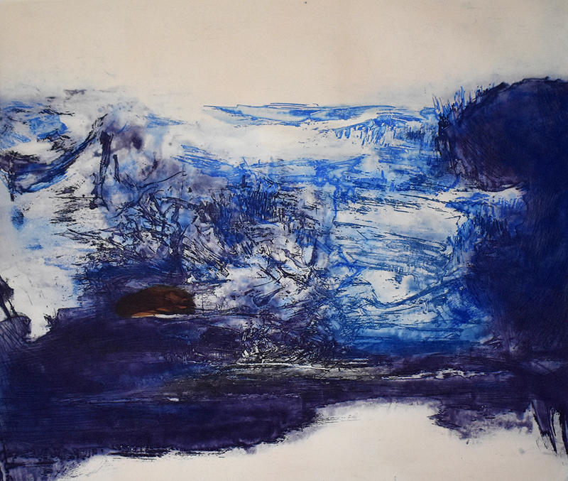 ZAO Wou-Ki - Estampe-Multiple - Etching No. 189