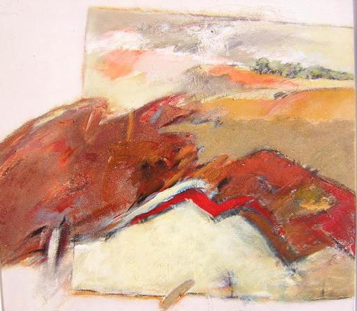 Michel FOUR - Pittura - Au fond, un paysage.