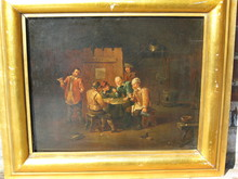 David II TENIERS - Peinture - Beim Würfelspiel
