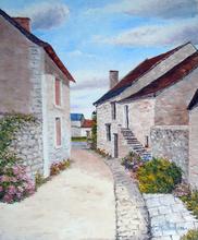 Gyslaine PACHET-MICHENEAU - Painting - Rue de Crissay sur Manse