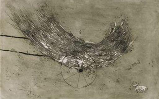 米盖尔·巴塞罗 - 版画 - La Charette de foin