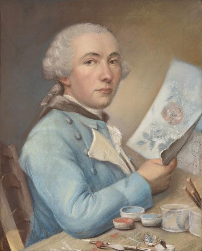 Philippe DE LASALLE - Disegno Acquarello - Autoportrait présumé de l'artiste