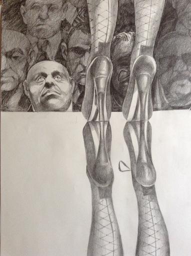 Patrick BRETAGNE - Disegno Acquarello - L'admirateur
