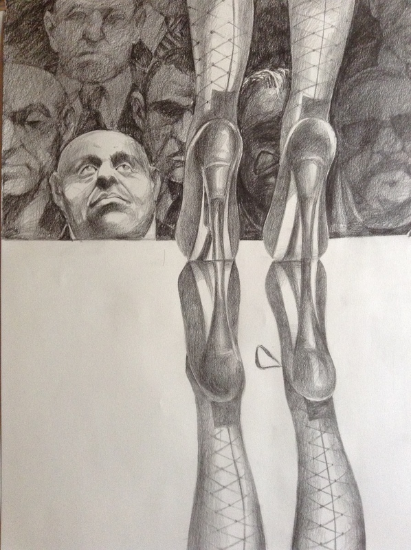 Patrick BRETAGNE - Drawing-Watercolor - L'admirateur