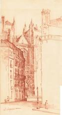 Émile LEQUEUX - Dibujo Acuarela - Nantes.