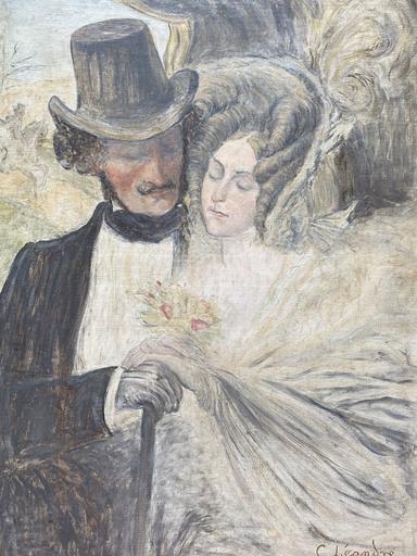 Charles LÉANDRE - Painting - Les Amoureux
