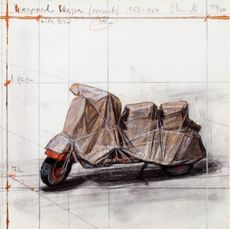 CHRISTO - Print-Multiple - Wrapped Vespa, Project, 1963-64
