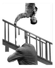 John BALDESSARI - Grabado - Stairway, coat and person