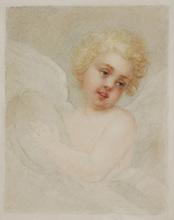 Francesco BARTOLOZZI (Attrib.) - Drawing-Watercolor - Cherub attrib. to Francesco Bartolozzi, early 19th Century