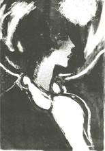 让-皮埃尔•卡西尼尔 - 版画 - PROFIL EN NOIR 1972