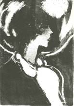 Jean-Pierre CASSIGNEUL - Print-Multiple - PROFIL EN NOIR 1972