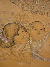 Génia MINACHE - Dibujo Acuarela - La fete foraine